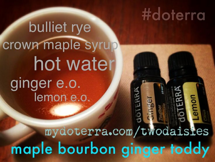 maple bourbon ginger toddy