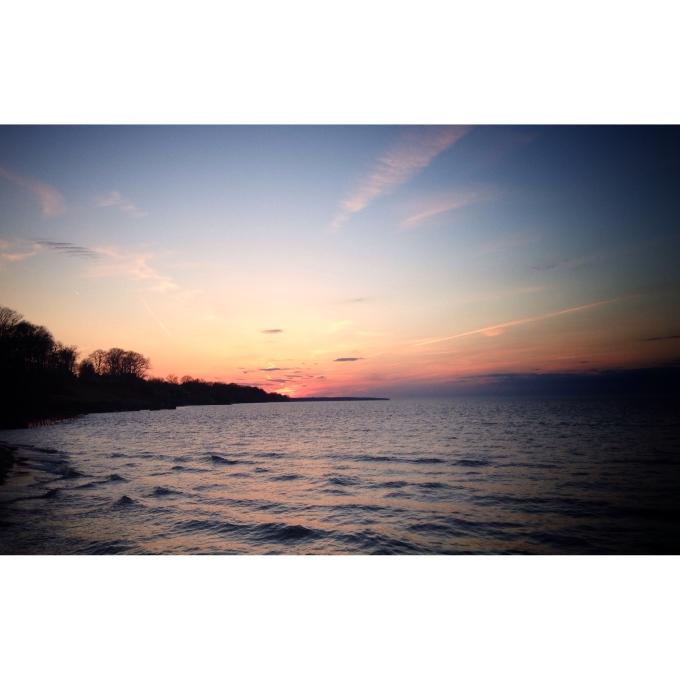 sunset. lake erie.